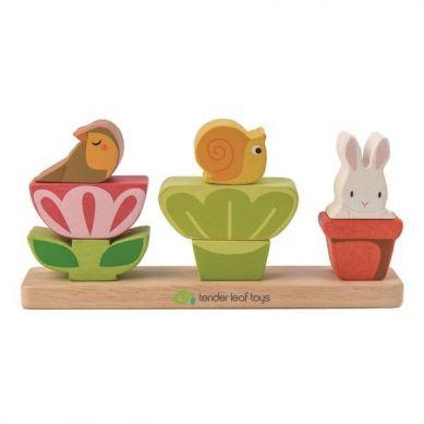 Tender Leaf Toys - Drewniana Układanka Ogród 18m+