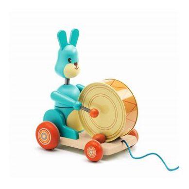 Djeco - Zabawka do Ciągnięcia Króliczek z Bembenkiem