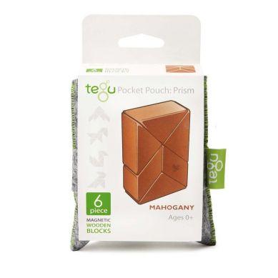 Tegu - Drewniane Klocki Magnetyczne Pocket Pouch Prism Mohgany