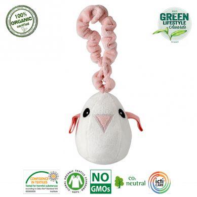 Maud N Lil - Miękka Muzyczna Zawieszka Organiczna Tweet The Bird Pink