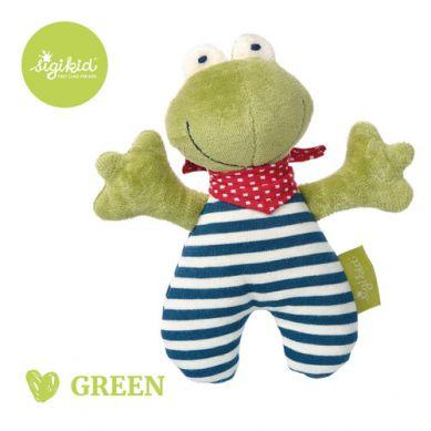 Sigikid - Przytulanka Grzechotka Żabka Kolekcja Ekologiczna Green
