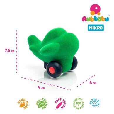 Rubbabu - Samolot Sensoryczny Zielony Mikro