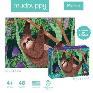 Mudpuppy - Puzzle Mini Leniwiec Trójpalczasty 48 Elementów 4+