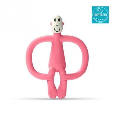 Matchstick Monkey - Gryzak Masujący ze Szczoteczką Candy Pink