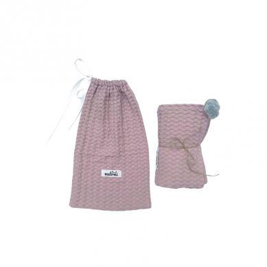 Malomi Kids - Kocyk Wafferl Jednowarstwowy 100X120 Dusty Pink
