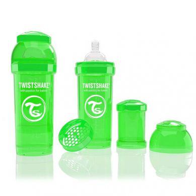 Twistshake - Butelka Anty-kolkowa 260ml Zielona