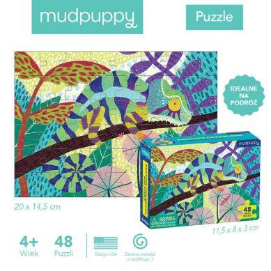 Mudpuppy - Puzzle z Brokatem Kameleon Lamparci 100 Elementów