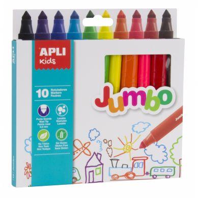 Apli Kids - Flamastry Jumbo 10 Kolorów