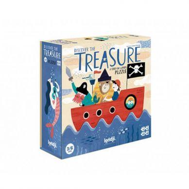 Londji - Puzzle dla Dzieci Progresywne Odkrywaj Skarby 3+