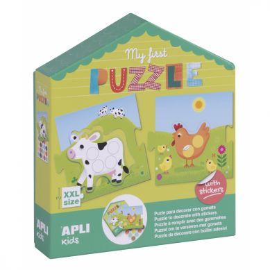 Apli Kids - Moje Pierwsze Puzzle z Naklejkami 3+