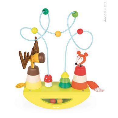 Janod - Platforma Edukacyjna Łoś i Lisek Baby Forest 1+