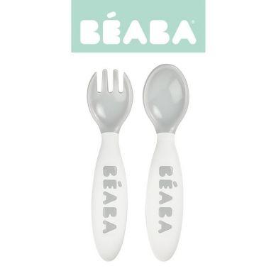Beaba - Sztućce w Etui Grey