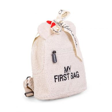 Childhome - Plecak Dziecięcy My First Bag Bag Teddy Bear White (Limited Edition)