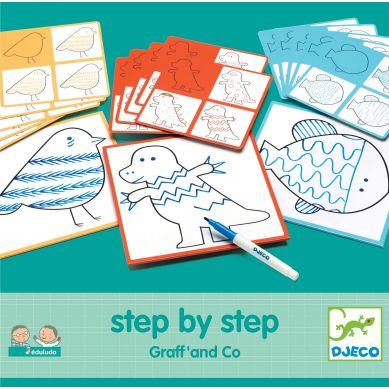 Djeco - Nauka Rysowania Krok Po Kroku Graff & Co