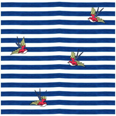 La Millou - Trójkątna Chustka Barber Sailor Strips