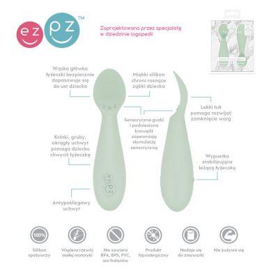 EZPZ - Silikonowa Łyżeczka Tiny Spoon 2 szt. Pastelowa Zieleń