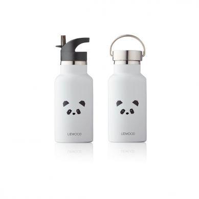 Liewood - Stalowa Butelka na Wodę Panda Ligt Grey