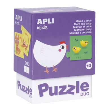 Apli Kids - Puzzle Dwuczęściowe Mamy i ich dzieci 3+