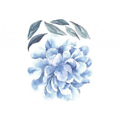 Pastelowelove - Naklejka na Ścianę Piwonia Niebieska 50cm