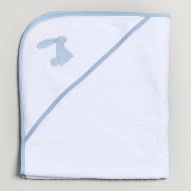 Bim Bla - Ręcznik Niemowlęcy z Niebieskim Haftem