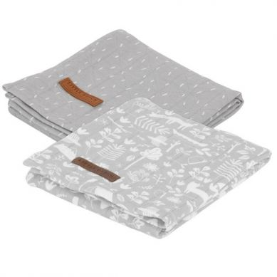Little Dutch - Otulacz 70x70cm Adventure Grey (2szt)