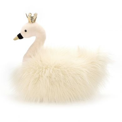 Jellycat - Przytulanka Łabędź w Koronie Fancy Swan Fluffy 37cm