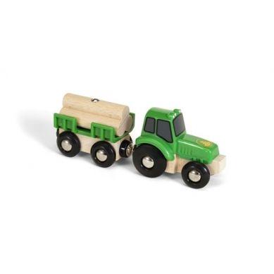 BRIO - World Traktor z Przyczepą i Drewnem