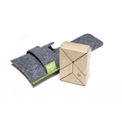 Tegu - Drewniane Klocki Magnetyczne Pocket Pouch Prism Natural