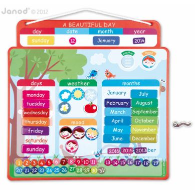 Janod - Magnetyczny Kalendarz