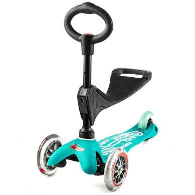 Micro - Hulajnoga Mini Baby Seat 3w1 Deluxe Aqua 1+