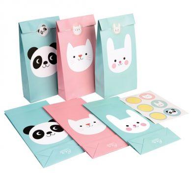 Rex - Zestaw Torebek Prezentowych Panda, Bunny and Cat