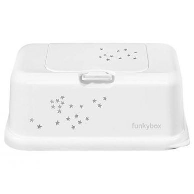 Funkybox - Pojemnik na Chusteczki White Little Stars