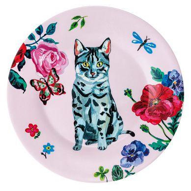 Petit Jour Paris - Okrągły Talerzyk Szary Kot Nathalie Lete