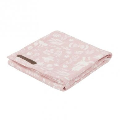 Little Dutch - Otulacz 120 x 120cm Adventure Pink