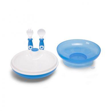 Childhome - Zestaw Obiadowy z Termiczą Miseczką Niebieski