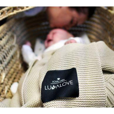 Lullalove - Bambusowy koc tkany Kawa z Mlekiem