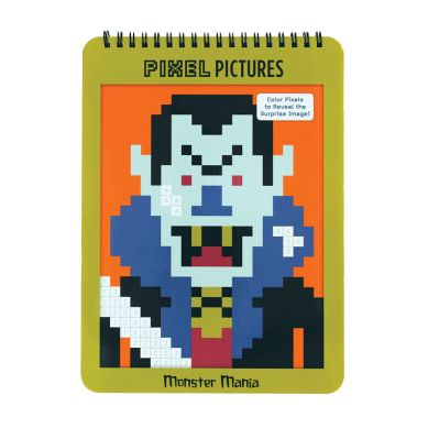 Mudpuppy - Kolorowanka pixele - Potwory