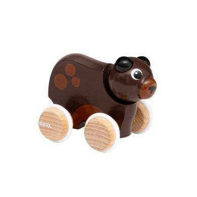 BRIO - Drewniana Zabawka do Pchania Miś