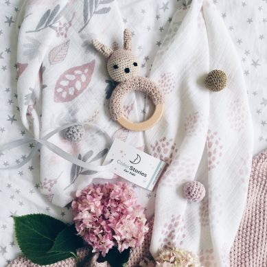 ColorStories - Otulacz Bambusowo-Muślinowy 75x75cm Floral Rose