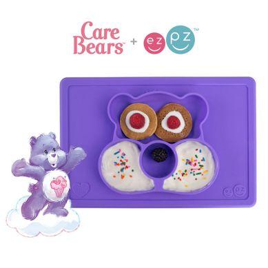 EZPZ - Silikonowy Talerzyk z Podkładką 2w1 Care Bears™ Mat Miśka Share Bear Fioletowy