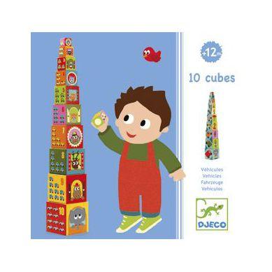 Djeco - Pudełka do Układania Pojazdy
