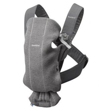 BabyBjorn - Nosidełko Mini 3D Jersey Ciemny Szary