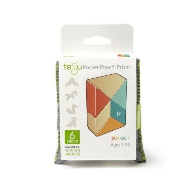 Tegu - Drewniane Klocki Magnetyczne Pocket Pouch Prism Sunset