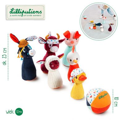 Lilliputiens - Kręgle z Piłką - Dzwoneczkiem Farma 1+