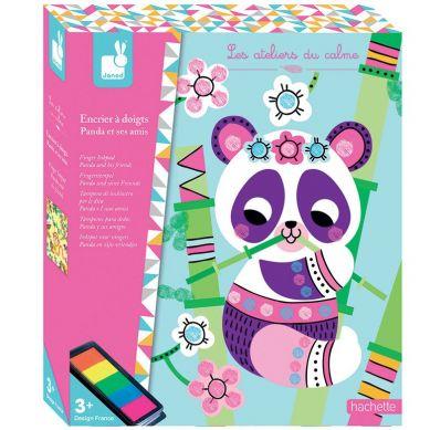 Janod - Zestaw Kreatywny Kolorowy Tusz Panda i Przyjaciele
