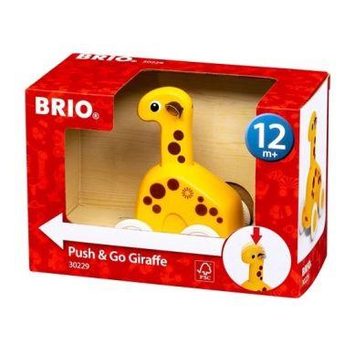 BRIO - Drewniana Zabawka do Pchania Żyrafa