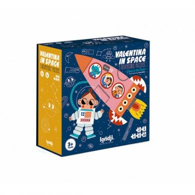 Londji - Puzzle dla Dzieci Progresywne Walentyna w Kosmosie 3+