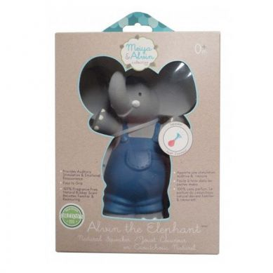Meiya & Alvin - Organiczny Gryzak Piszczący Alvin Elephant