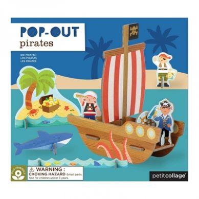 Petit Collage - Puzzle Przestrzenne Statek Piracki