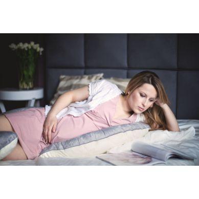 Poofi - Poduszka Do Spania Dla Kobiet w Ciąży Kremowo-szara